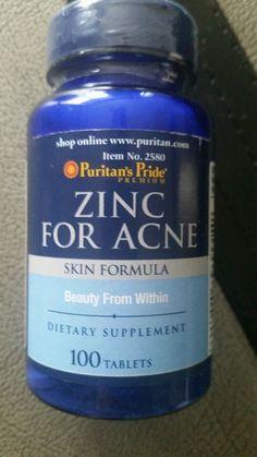 Puritan's Pride Zinc For Acne 100 Tablets Skin formula dietary supplement Sealed  http://www.ebay.com/itm/Puritan-039-s-Pride-Zinc-For-Acne-100-Tablets-Skin-formula-dietary-supplement-Sealed-/181637871637?roken=cUgayN&soutkn=BLLbAP via @eBay