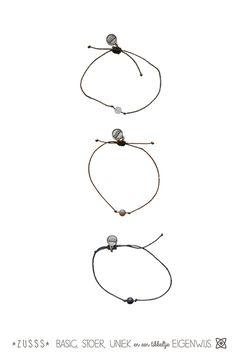 Zusss l Armbandje koord, 1 kraal l http://www.zusss.nl/product/armbandje-koord-1-klei-groene-kraal/