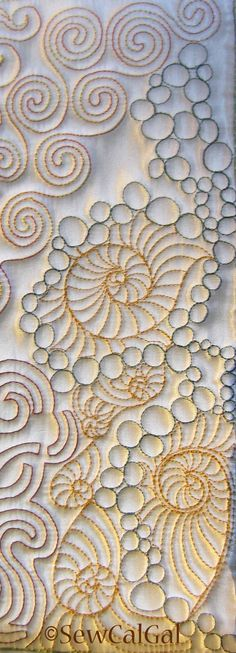 Insights From SewCalGal: 2012 Free-Motion Quilting Challenge - October - Teri Lucas quilts Patchwork Quilting, Quilt Stitching, Longarm Quilting, Top Stitching, Free Motion Embroidery, Free Motion Quilting, Hand Embroidery, Machine Embroidery, Machine Quilting Patterns