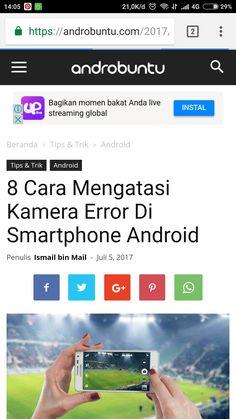 Cara mengatasi kamera error di smartphone android. Baca selengkapnya di androbuntu.com.
