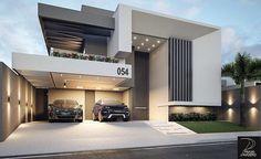 urvelo /MG Autor do projet Architecture Design, Modern Architecture House, Facade Design, Exterior Design, Villa Design, House Front Design, Modern House Design, Building Design, Building A House