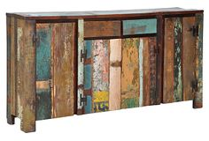Taragon Console Made of reclaimed wood in a variety of different colors....LOVE