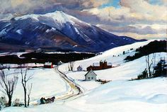 "Aldro Hibbard's ""Mt Mansfield"" Painting at Clarke Galleries"