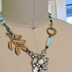 Beautiful vintage assemblage necklace