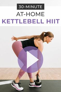Strength and condition at home with this guided workout video: Kettlebell HIIT Workout For Women! This full body workout is great cross training. Kettlebell Workouts For Women, Full Body Kettlebell Workout, Sixpack Workout, Kettlebell Cardio, Kettlebell Training, Strength Training Workouts, Training Exercises, Kettlebell Challenge, Cardio Hiit