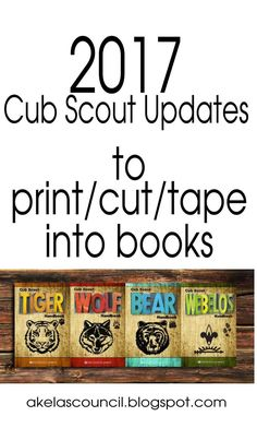 In response to the BSA's just-announced modifications to the Cub Scouting program, I've put the changes into a format that allows you to print/cut/tape the new requirements for your rank on the photo page in the front of each adventure in your Scouts' handbooks. Please feel free to use and share these links with your Packs and Scouting networks.