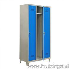 Kast lockerkast 3 deuren (cilindersluiting) kopen. Lage prijzen, Grote voorraden. Type: lockerkast. Artikelindeling: Gebruikt. Kleur: blauw/grijs. B: 930, D: 500, H: 1850 (mm)