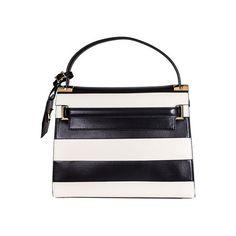 Valentino Garavani My Rockstud Handbag (€3.265) ❤ liked on Polyvore featuring bags, handbags, multicolor, white handbags, real leather handbags, leather handbags, colorful handbags and leather flap purse