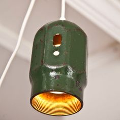 Old cap off a propane tank repurposed as a light....cool !!!