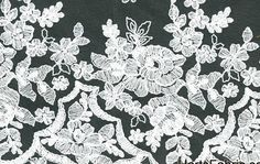 Scalloped Lace White Floral