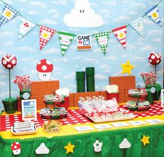 GAME ON: Super Mario Themed Birthday Party  Now this is more Andy's style