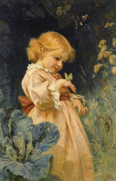 The Butterfly  ~ Frederick Morgan ~ (English 1847-1927)