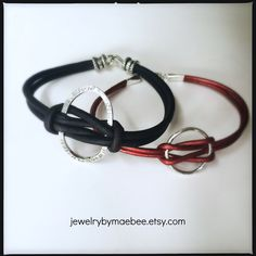 Be knotty, it's Friday! Listing these soon...Sterling and woven leather from JewelryByMaeBee on #Etsy. #sfetsy www.jewelrybymaebe.etsy.com