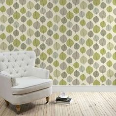 A wide range of Wallpaper available to buy today at Dunelm, the UK's largest homewares and soft furnishings store. Order now for a fast home delivery or reserve in store. Kitchen Wallpaper, Green Wallpaper, Home Wallpaper, Bedroom Wallpaper, Amber Room, Lounge Decor, Lounge Ideas, New Interior Design, New Room