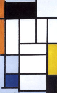 Composition with Red, Black, Yellow, Blue and Grey, 1921 by Piet Mondrian - art print from King & McGaw Geometric Painting, Geometric Shapes, Bauhaus, Mondrian Art, Triangle Square, San Francisco Houses, Dutch Artists, Art Abstrait, Abstract