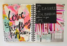 @elizabethev   Season of Happy   Get Messy Art Journal