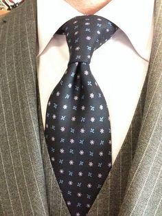 Sam Hober Tie: Macclesfield Printed Silk Tie 102 http://www.samhober.com/macclesfield-print-silk-ties/