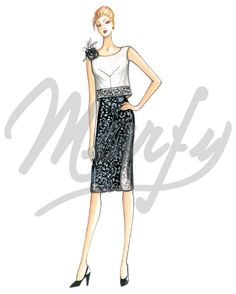 Our Patterns :: Marfy Collection 2015/2016 :: Spring/Summer :: Sewing Pattern 3666 - another beautiful dart placement