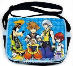 Kingdom Hearts II 2 Cosplay Sora Messenger Shoulder Bag S2 & Crown Necklace Gift