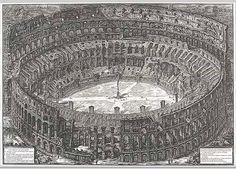 Veduta dell'Anfiteatro Flavio detto il Colosseo (View of the Flavian Amphitheater known as the Colosseum): From Vedute di Roma (Views of Rome), 1776 Giovanni Battista Piranesi (Italian, 1720–1778) Etching, first state