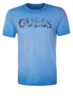 Guess Print T-shirt - blue. Fashion 47e64e6a31