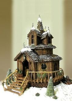 Prize winning gingerbread house by Mibralegare