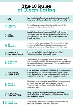 How to Eat Clean: 10 Rules to Follow  http://www.eatclean.com/scoops/how-to-eat-clean?cid=soc_Prevention%2520Magazine%2520-%2520preventionmagazine_FBPAGE_Prevention_Internalonly:EC_