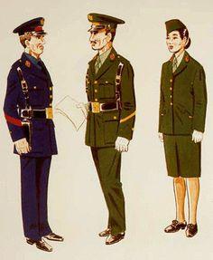 Sección de Marinos, Uniforme de Servicio para diario Cabo 1º en Uniforme de Servicio para diario Matrona en Uniforme de Servicio