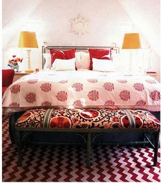 Incorporate red into your bedroom, perhaps?