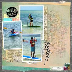 by KittyY hawaii Paddle boarding -Used Springboard No 11 template http://the-lilypad.com/store/Springboard-templates-No.11.html and M3 Jan 2015 http://the-lilypad.com/store/Mixed-Media-Monthly-Jan.-15-Main-Kit.html