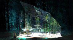 314 Architecture Studio, Spitiko Pavilion, be fresh spitiko, bfresh pavilion, glass pavilion, forest pavilion, greenhouse pavilion, greenhouse design, glass structures, glass paneled cubes, greenhouse pavilion, glass panels,