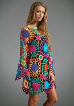 Outstanding Crochet: PSYCH OUT Crochet Dress from UNIF
