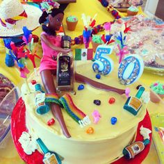 Fiesta drunk Barbie cake