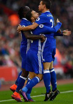 Eden Hazard celebrates scoring: Southampton 0-2 Chelsea, 30 Oct 16