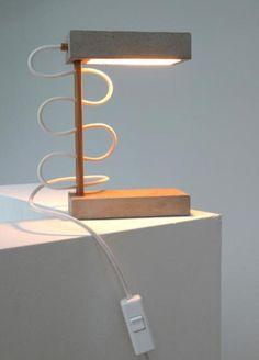 "Beton Cube - Tischlampe ""DUO"" - NITHO - Lampy stołowe"