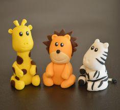 animaux savane pâte à sucre - girafe, lion, zèbre !