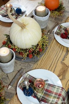 Fall Tablescape - All Things Heart and Home