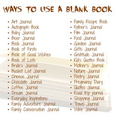 Ways to Use a Blank Book, compiled by Elissa Campbell of Blue Roof Designs :)
