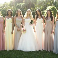 This dress could be custom made, there are no extra cost to do custom size and color.  Description of long bridesmaid dress 1, Material: chiffon, elastic silk like satin, pongee.   2, Color: picture color or choose from the color chart, if you need fabric swatch, you could order by this link...