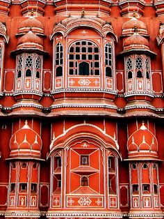 """Hawa Mahal  (Hindi: हवा महल, translation: """"Palace of Winds"""" or """"Palace of the Breeze""""), is a palace in Jaipur, India"""