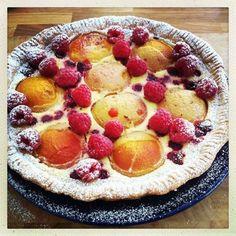 Perzik frambozen taart!