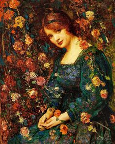 View Flora, woman in a green dress amongst growing roses by Thomas Edwin Mostyn on artnet. Browse upcoming and past auction lots by Thomas Edwin Mostyn. Woman Painting, Painting & Drawing, Mystique, Pre Raphaelite, Great Paintings, Classical Art, Beautiful Paintings, Art World, Art Blog
