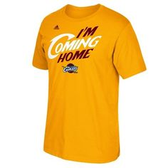 6aca6381ab3b LeBron James Cleveland Cavaliers adidas I m Coming Home T-Shirt - Gold