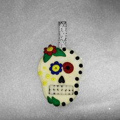sugar skull christmas tree Decoration  glow in by Wishcraft2013, £4.50