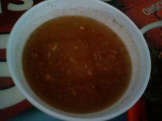 Simple soup, low fat, no calories haha :D