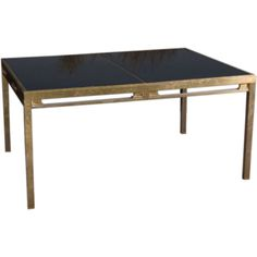 Jansen Brass and Black Glass Dining Table | From a unique collection of antique and modern dining room tables at https://www.1stdibs.com/furniture/tables/dining-room-tables/
