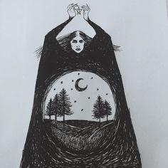 LA MUJER DEL BOSQUE : TEMA UNO Imagen encontrada en el Instagram https://www.instagram.com/p/7GYwwWC4Nn/ , donde la persona reseña que pertenece a @burialground
