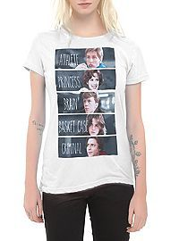 HOTTOPIC.COM - The Breakfast Club Characters Girls T-Shirt