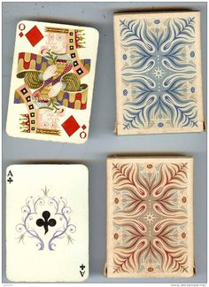 Vintage Playing Cards and Boxes