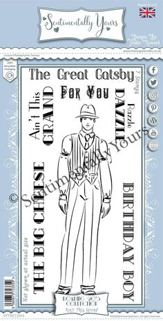 Trudie Howard Sentimentally Yours DL Stamp Set -  Roaring 20's : Ain't This Grand Roaring 20s, Stamp, Roaring Twenties, Stamps